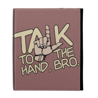 Talk To The Hand custom iPad folio iPad Case