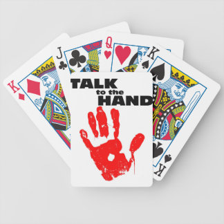 Talk to the Hand Poker Deck