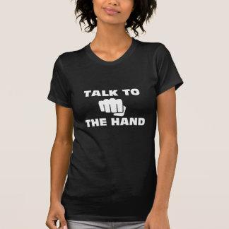 Talk to the Martial Arts Hand (Dark) T-Shirt
