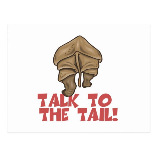 Talk to the Tail Rhino Post Card