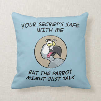 Talking African Grey Parrot Cushions