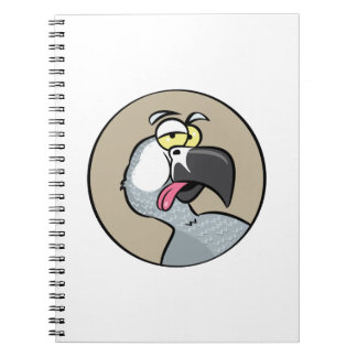 Talking African Grey Parrot Spiral Notebooks