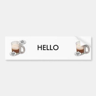 talking-beer-glass, talking-beer-glass, HELLO Bumper Sticker