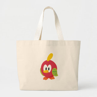 talking bird walking large tote bag