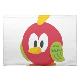 talking bird walking place mats