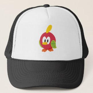 talking bird walking trucker hat