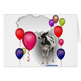 talking birthday cow card