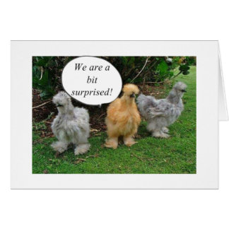 """TALKING CHICKENS """"CONGRATULATE RETIREE"""" WITH HUMOR CARD"""
