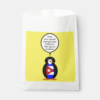 Talking Cuban Flag Penguin Favour Bag