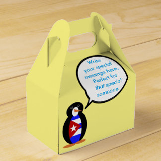 Talking Cuban Flag Penguin Favour Box
