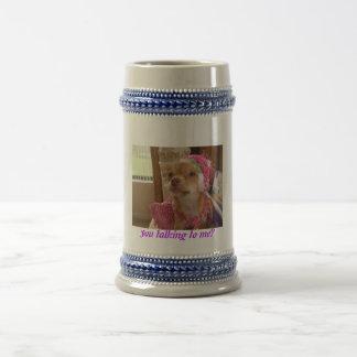 talking dressy chihuahua mug