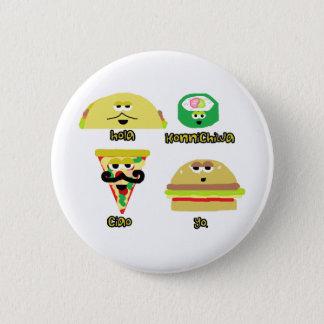Talking Foods 6 Cm Round Badge