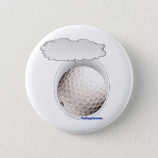 Talking Golf Ball 6 Cm Round Badge