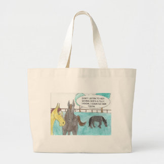 TALKING HORSE LARGE TOTE BAG