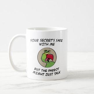 Talking Indian Ringneck Parrot Coffee Mug