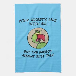 Talking Indian Ringneck Parrot Tea Towel