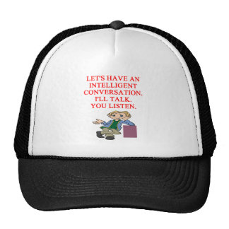 talking insult mesh hats