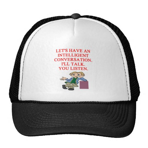 talking insult mesh hats