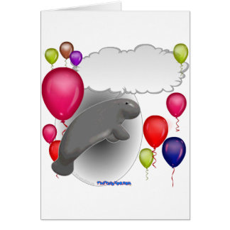 Talking Manatee Party Card