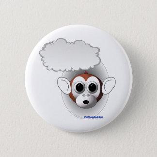 Talking Monkey 6 Cm Round Badge