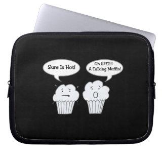 Talking Muffin Joke Electronics Bag Laptop Sleeves