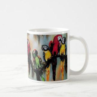 Talking Parrots Cup Coffee Mug Bird