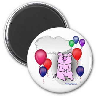 Talking Pink Party Pig Refrigerator Magnets