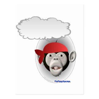 Talking Pirate Monkey Postcard