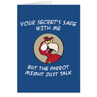 Talking Red Macaw Parrot Greeting Card