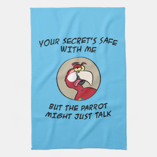 Talking Red Macaw Parrot Hand Towels