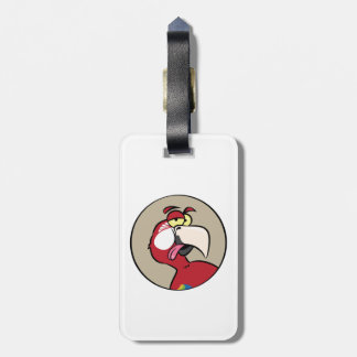 Talking Red Macaw Parrot Luggage Tag