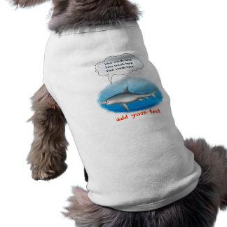 Talking Shark Template Sleeveless Dog Shirt
