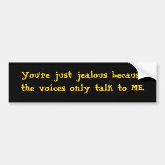 Talking voices bumper sticker