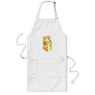 Tall arcade game console long apron