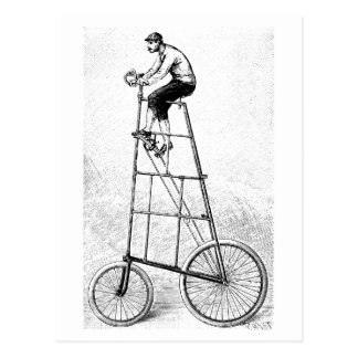 Tall Bicycle Vintage Cycling Sports Postcard