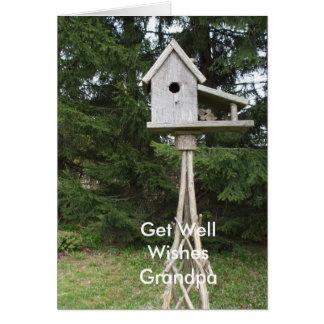 -Tall Bird House Card