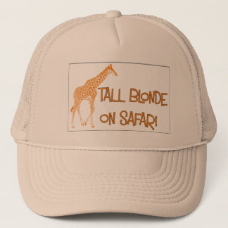 Tall blonde on Safari Cap