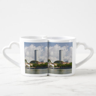 Tall building in Singapore next to River Lovers Mug