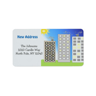 Tall Buildings New Address Address Label
