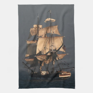 Tall Clipper Sailing Ship Kitchen Towel