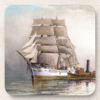 Tall Clipper Ship Ocean High Seas Coaster