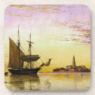 Tall Clipper Ships Sailing Ocean Venice Coaster