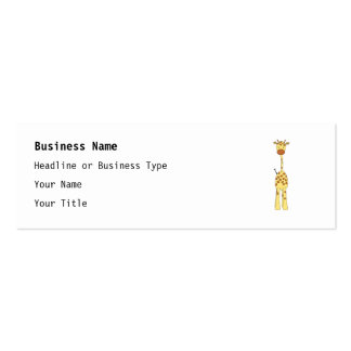 Tall Cute Giraffe. Cartoon Animal. Pack Of Skinny Business Cards