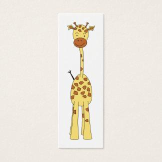 Tall Cute Giraffe. Cartoon Animal. Mini Business Card