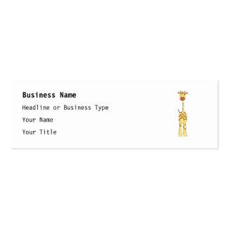 Tall Cute Giraffe. Cartoon Animal. Pack Of Skinny Business Cards