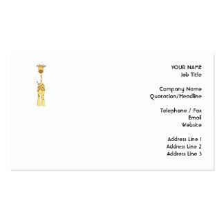 Tall Cute Giraffe. Cartoon Animal. Pack Of Standard Business Cards