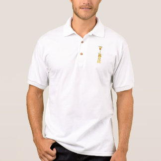 Tall Cute Giraffe. Cartoon Animal. Polo Shirt