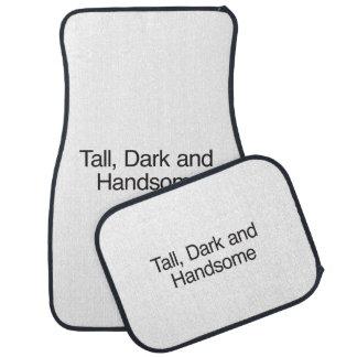 Tall, Dark and Handsome Floor Mat