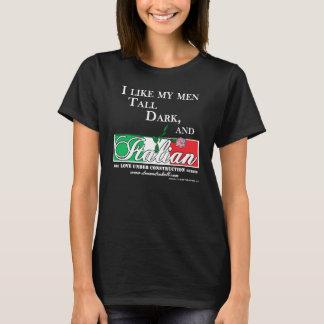 Tall, Dark, and Italian for dark shirts