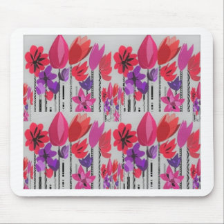 Tall Flowers in Red, Pink and Purple Mouse Pad